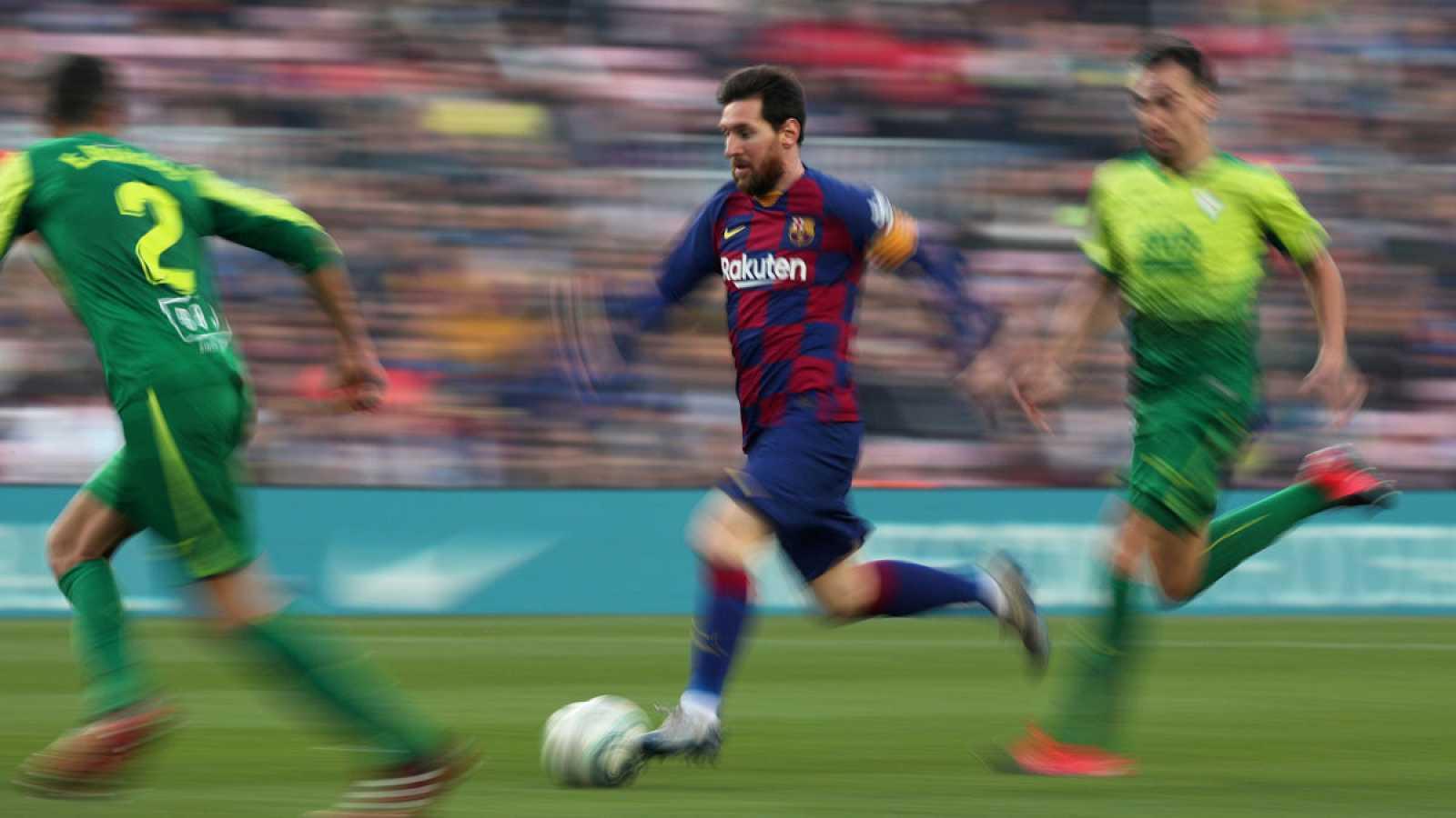 Lionel Messi, en acción