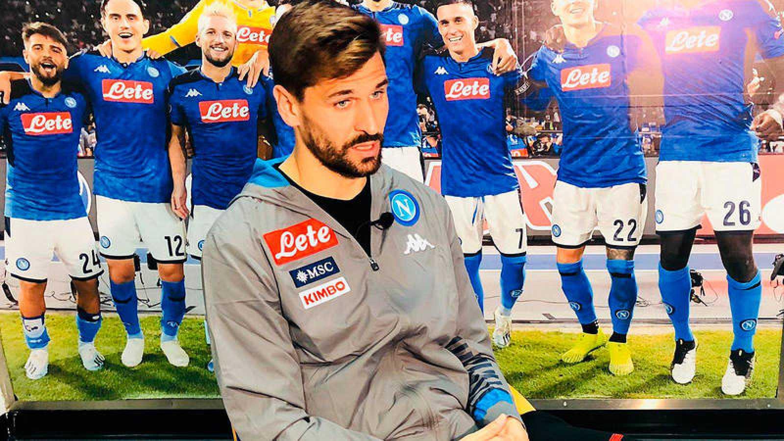 Fernando Llorente, jugador del Nápoles, entrevistado por TVE.