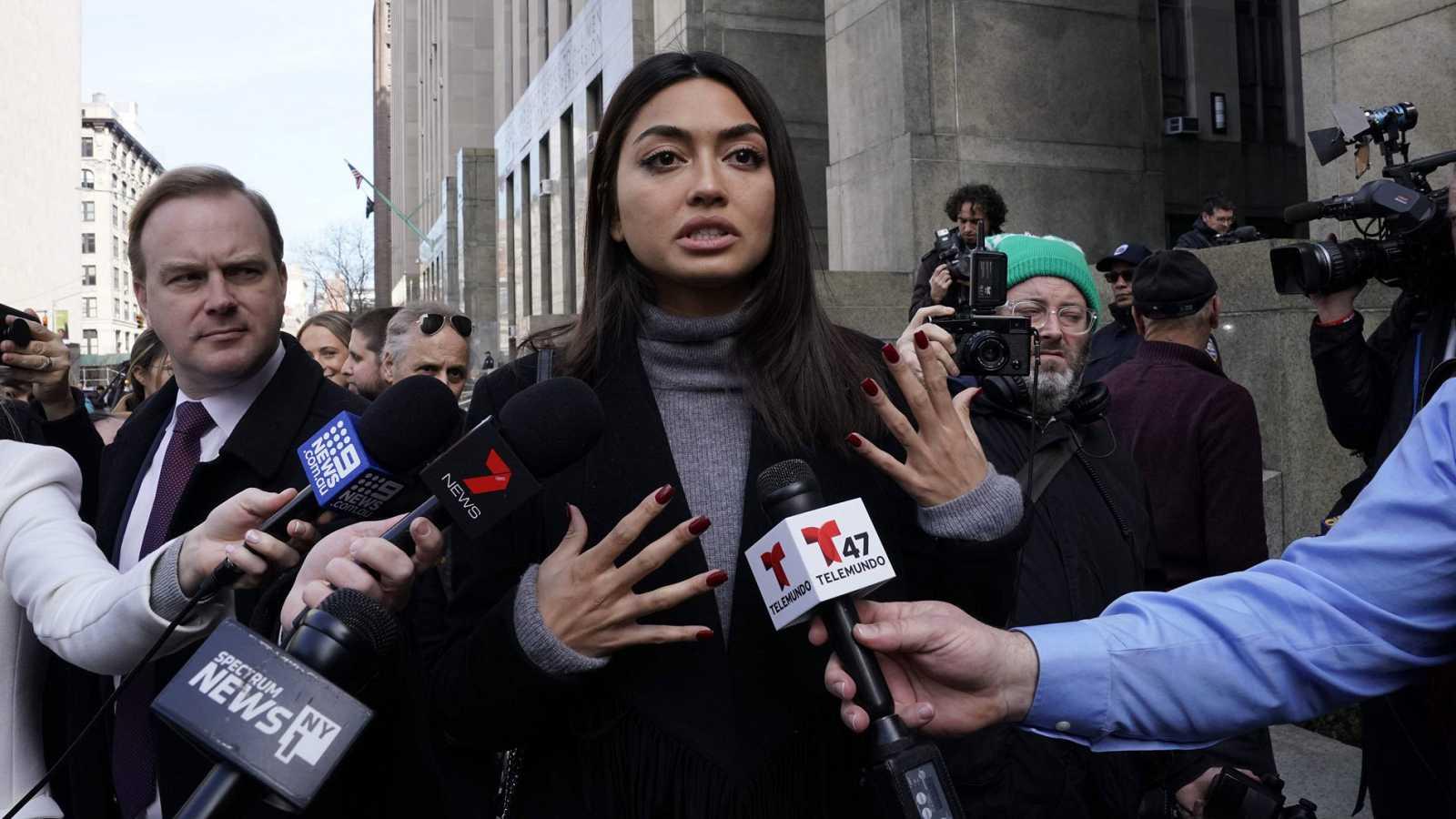 La modelo filipina-italiana Ambra Battilana Gutierrez, una de las mujeres que acusó a Weinstein por abusos