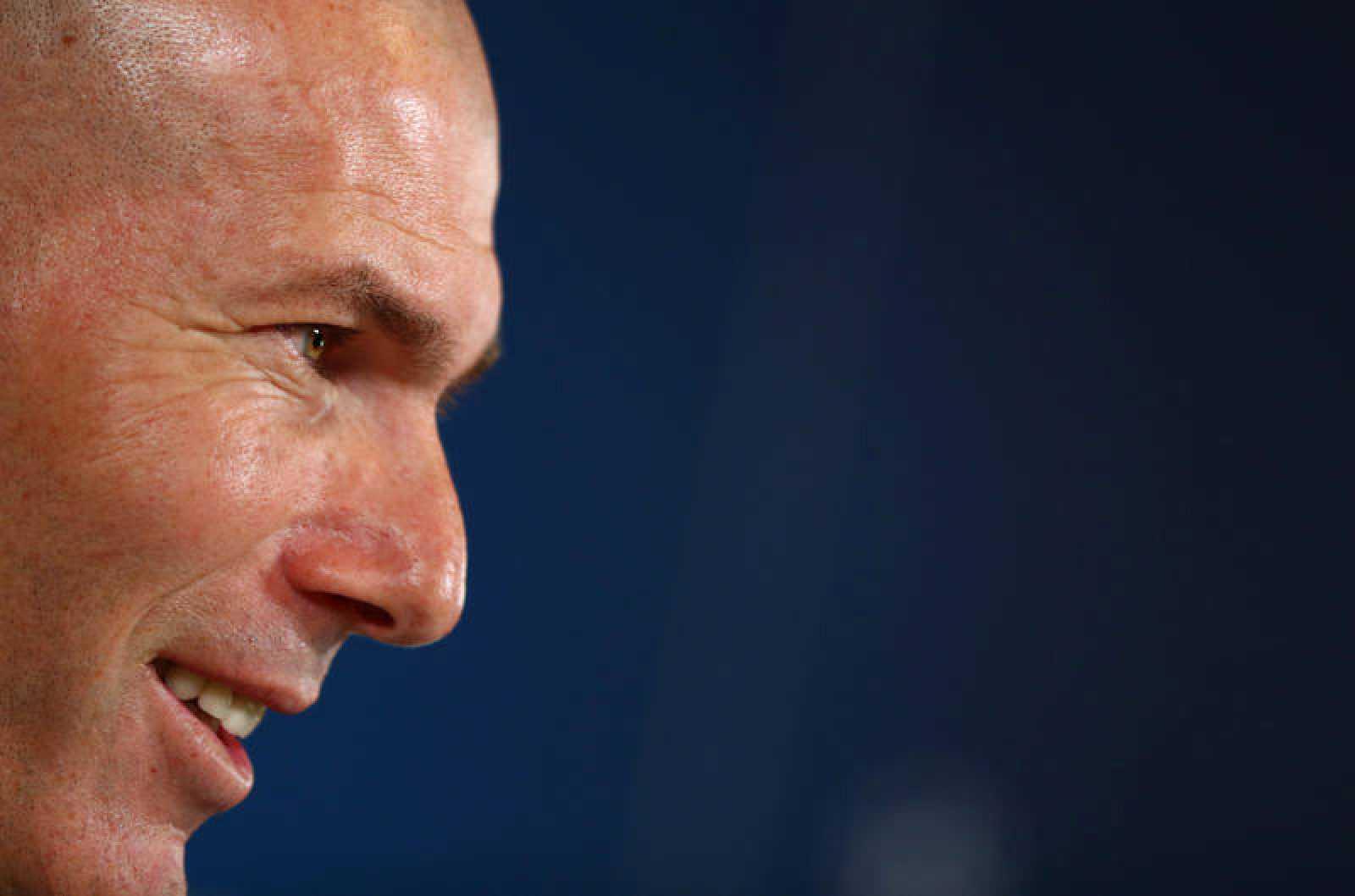 Zidane, durante la rueda de prensa previa al partido ante el City