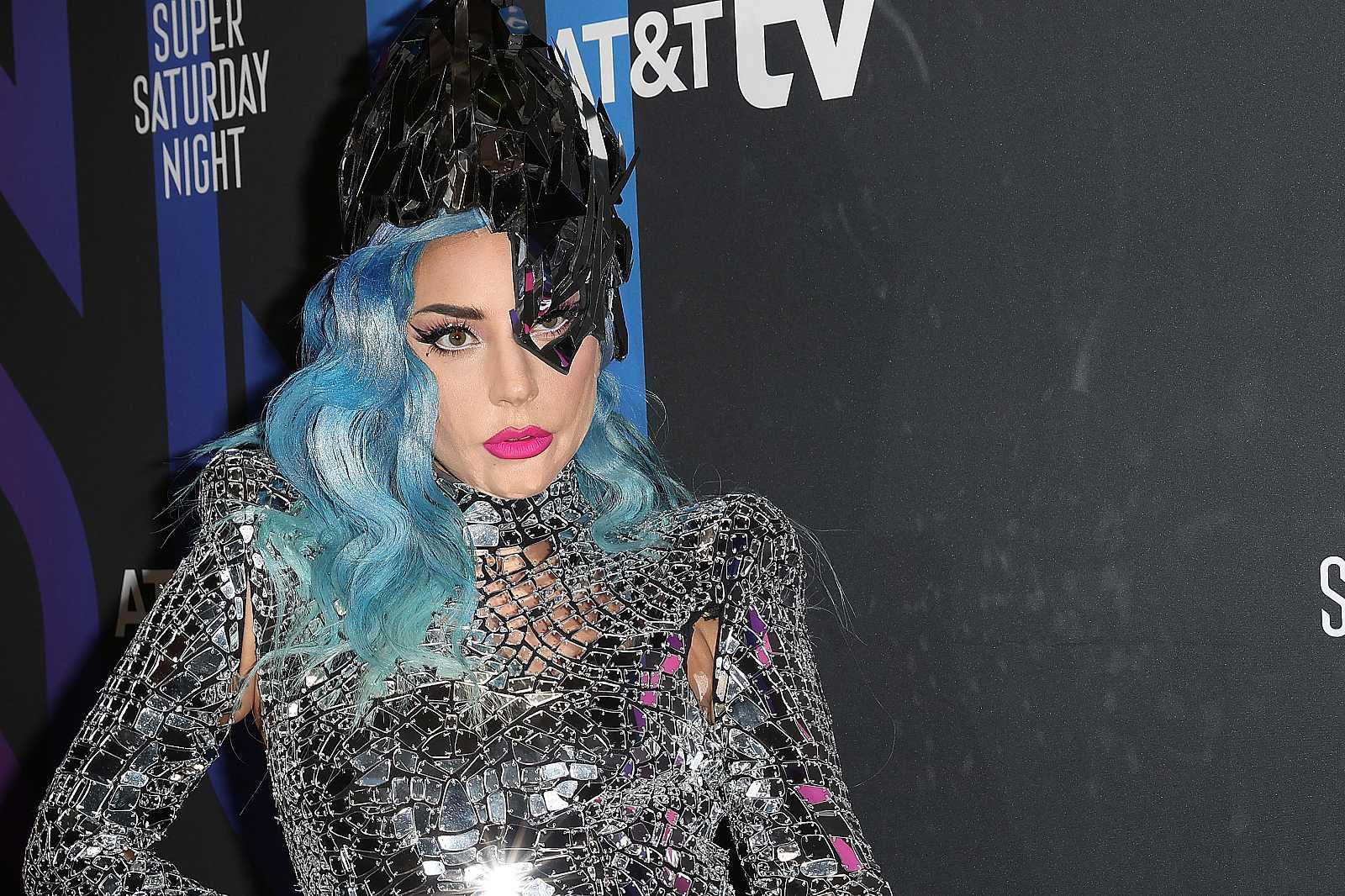Lady Gaga posa en 'Super Saturday Night'