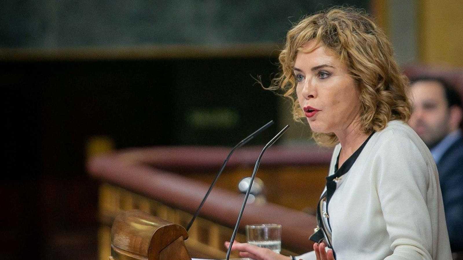 La diputada de Ciudadanos Marta Martín durante su intervención en el Congreso.