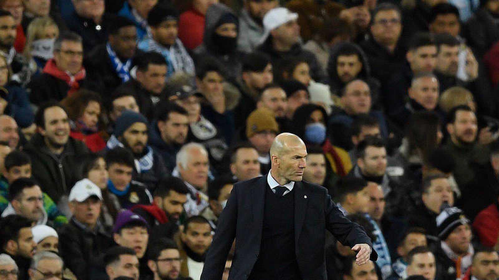 Zidane, durante el partido de este miércoles