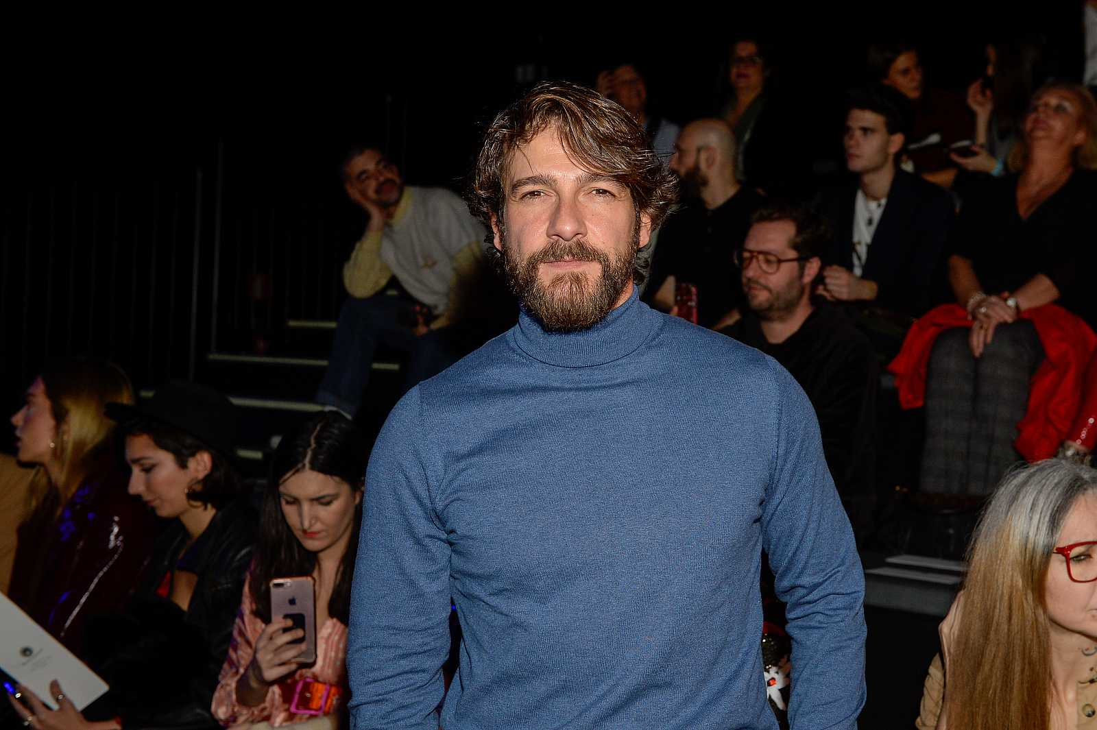 Félix Gómez durante la Pasarela Cibeles Fashion Week Madrid.