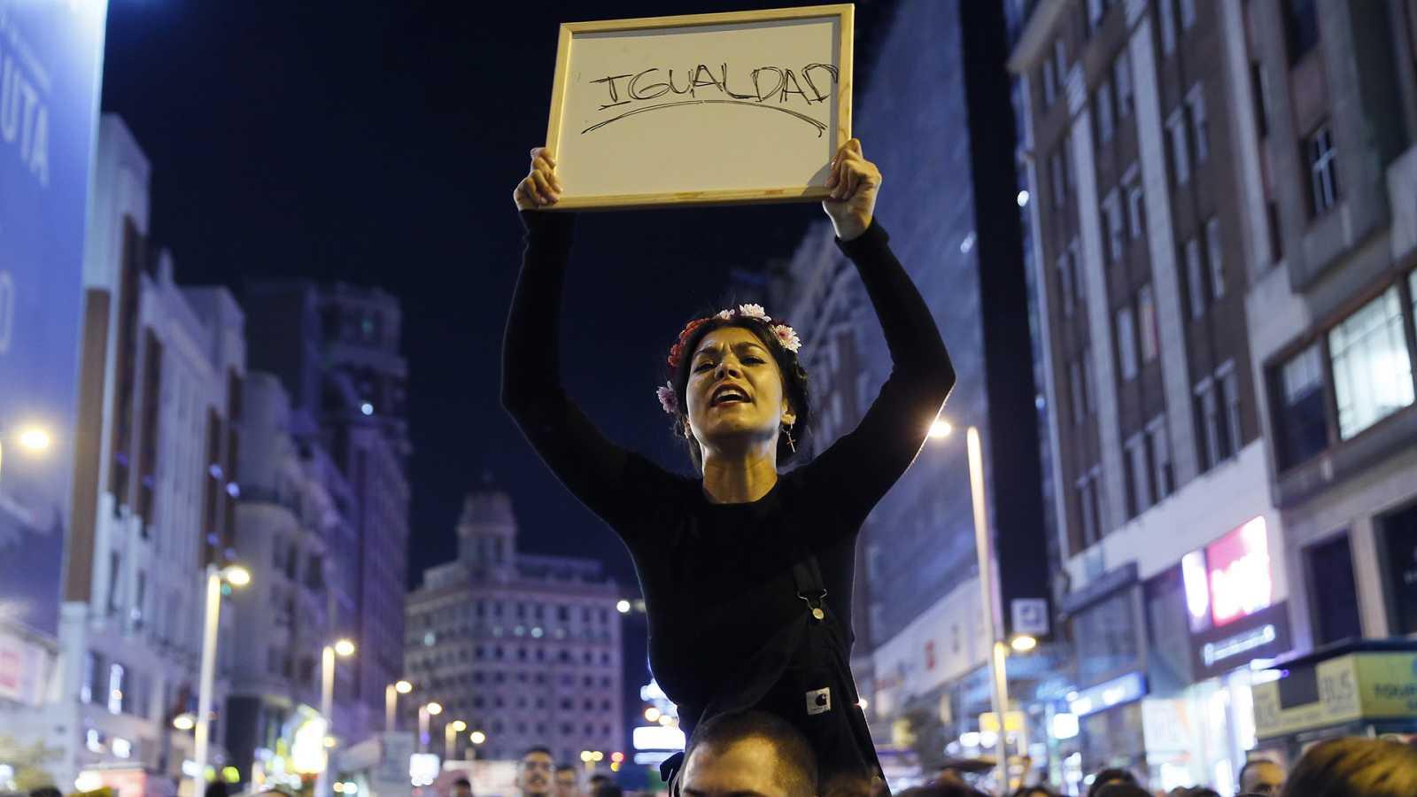 Un momento de la manifestación del 8 de Marzo en Madrid