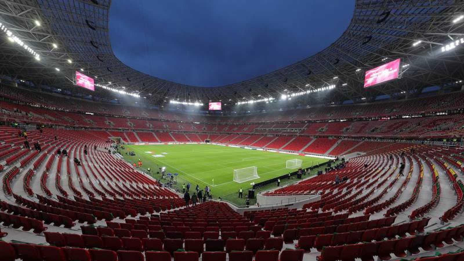 Imagen del Puskas Arena de Budapest.