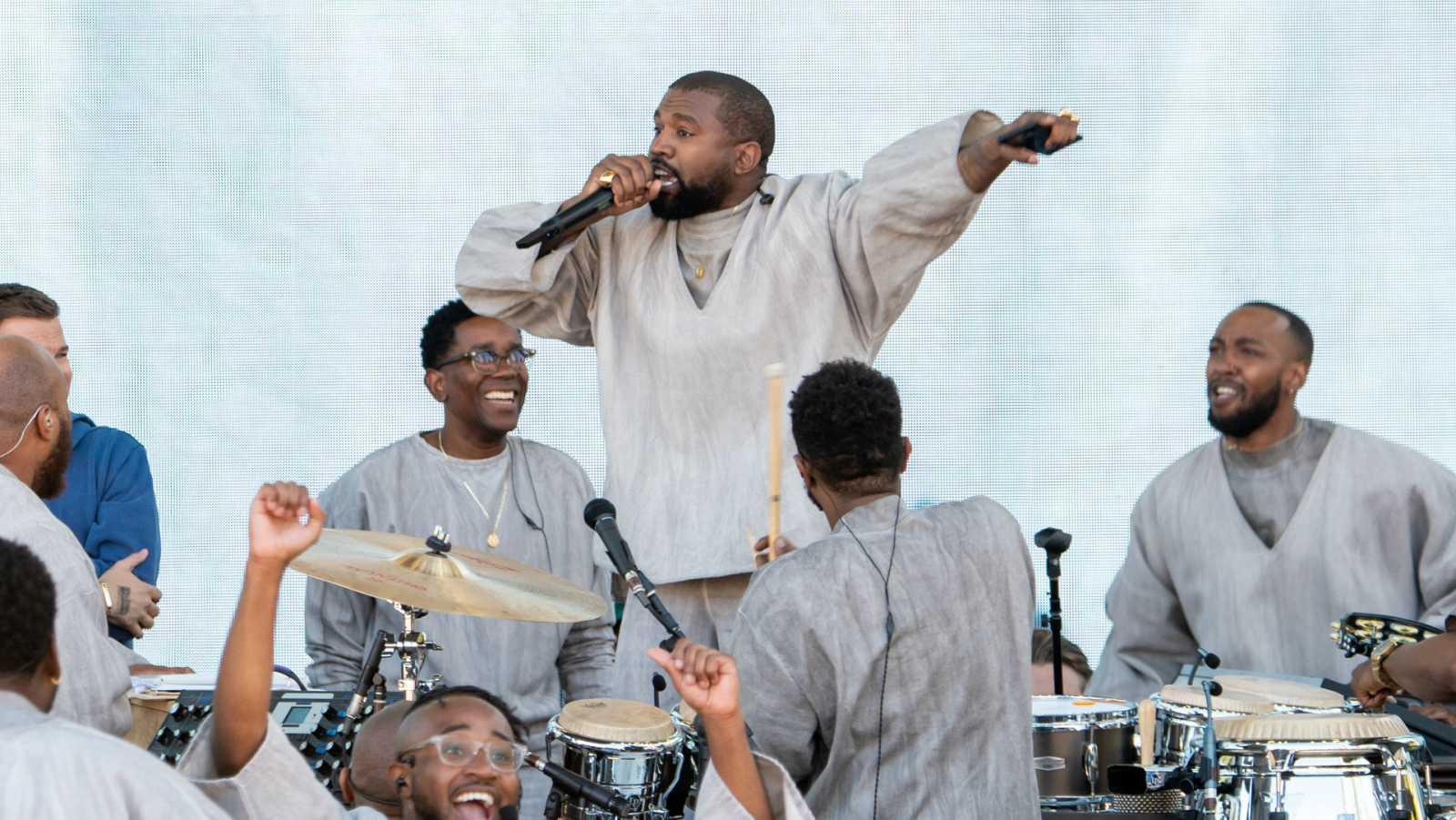 Kanye West durante un Sunday Service en Miami