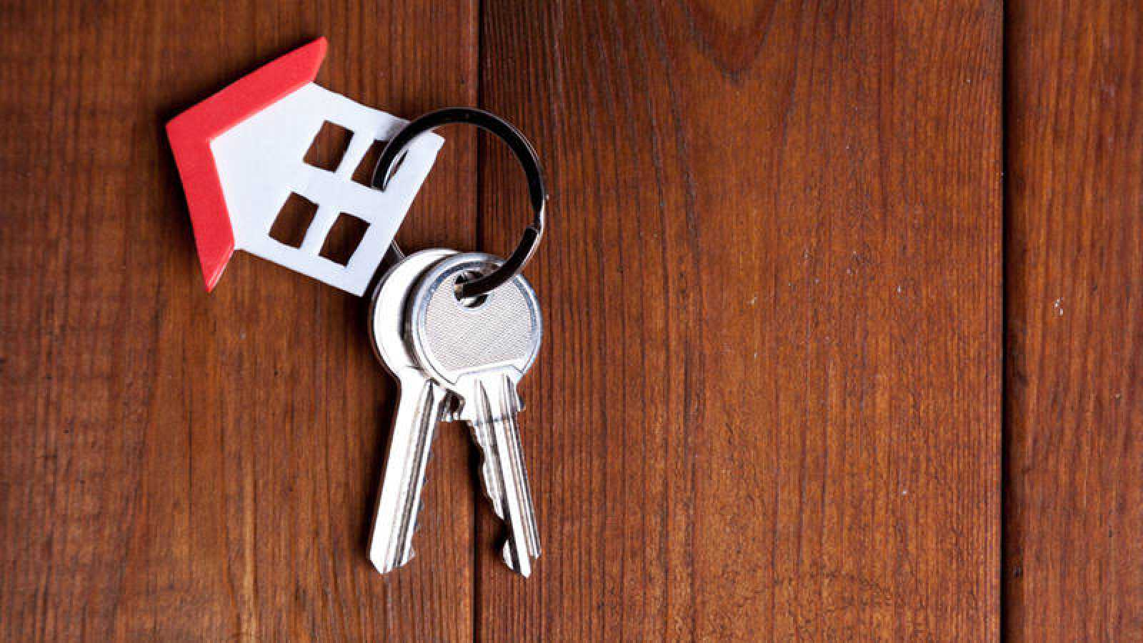 Un llavero alusivo a una hipoteca