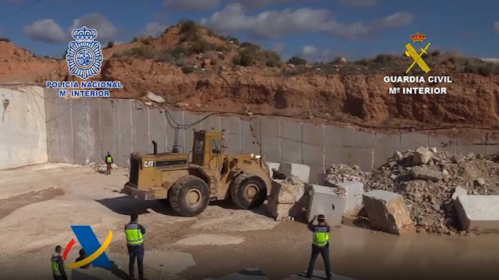 La Policía Nacional incauta 752 kilos de metanfetamina ocultos en bloques de mármol