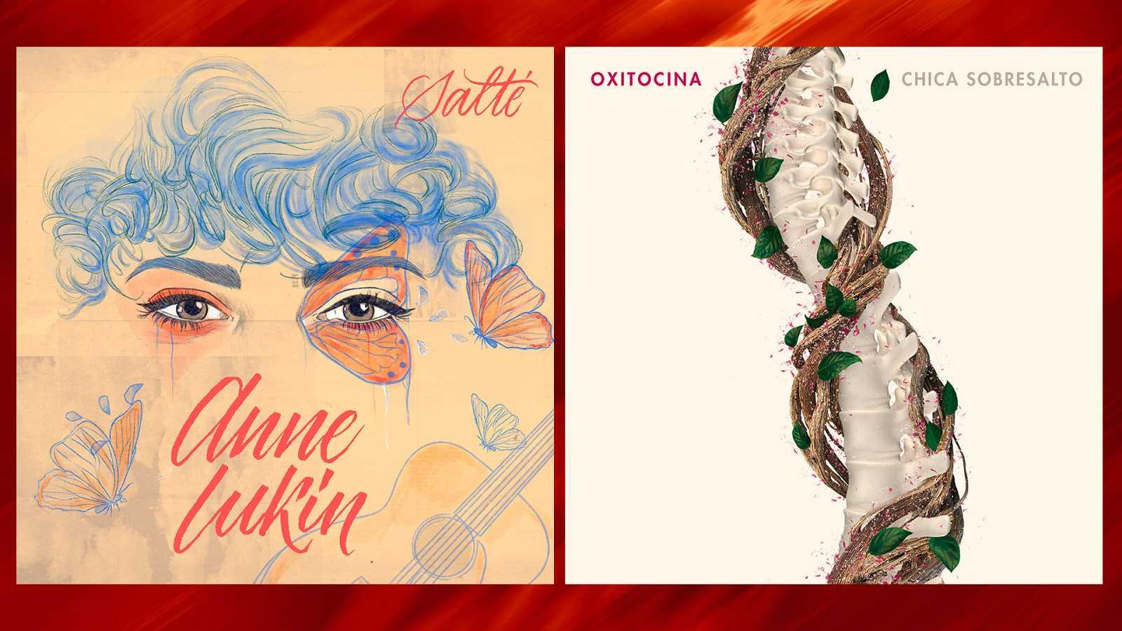 Las portadas de los singles de Maialen y Anne