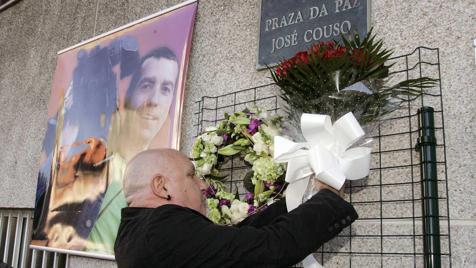 Imagen de archivo de un homenaje en Ferrol al cámara José Couso