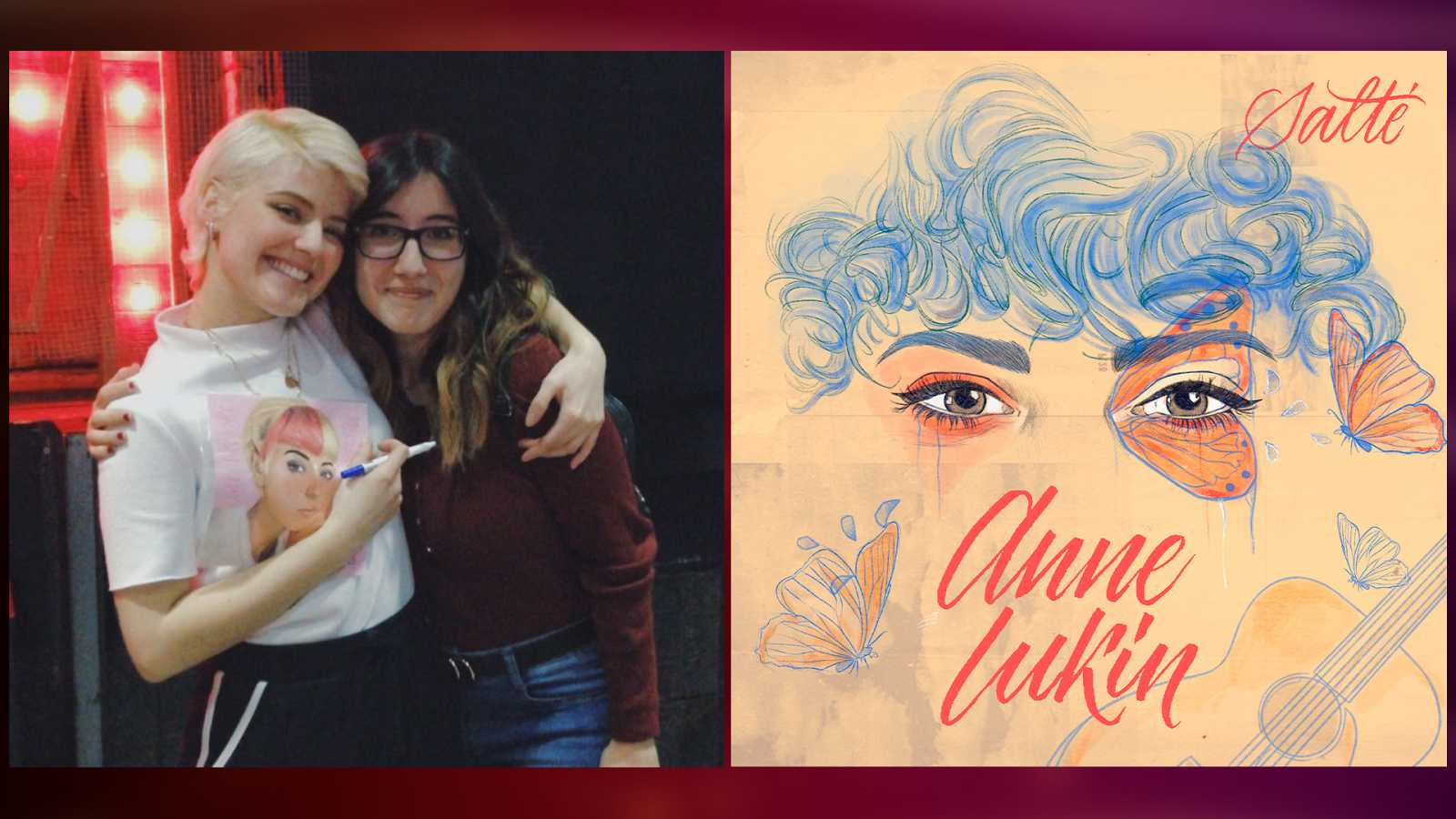 """Ani Martín, la ilustradora de la portada de """"Salté"""" el single de Anne"""