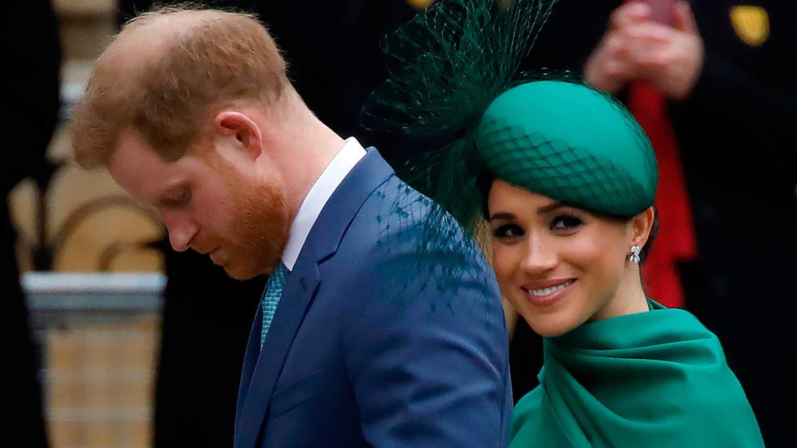 Los duques de Sussex en su último acto como miembros de la realeza británica