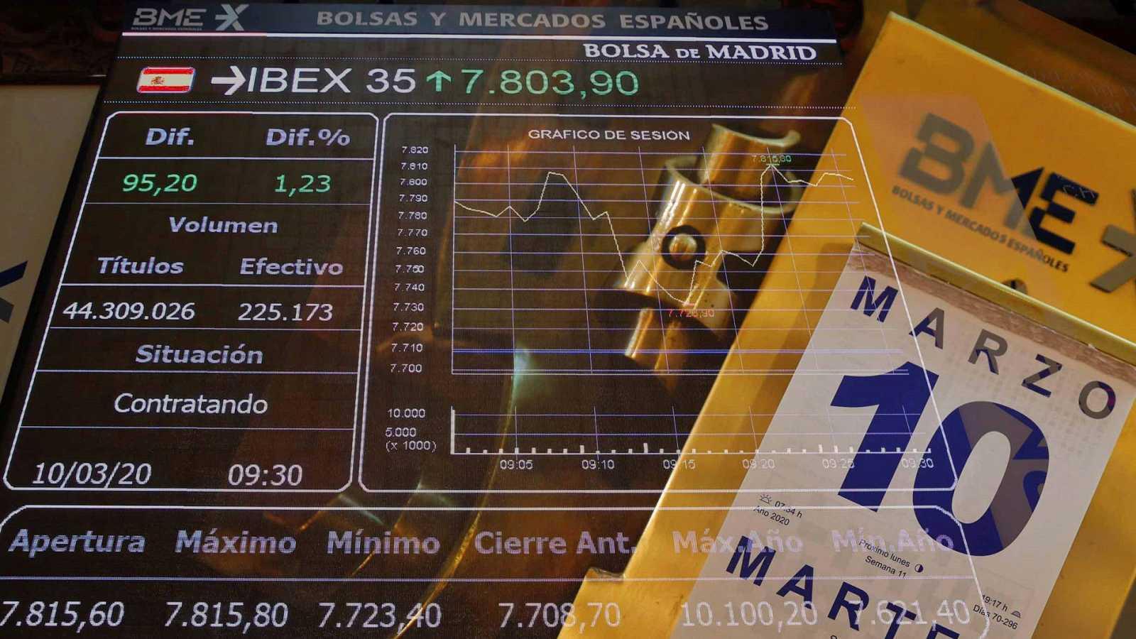"""La Bolsa española, tras el """"lunes negro"""" vivido en sesión previa, se tomó un respiro en los primeros compases de la sesión de este martes"""