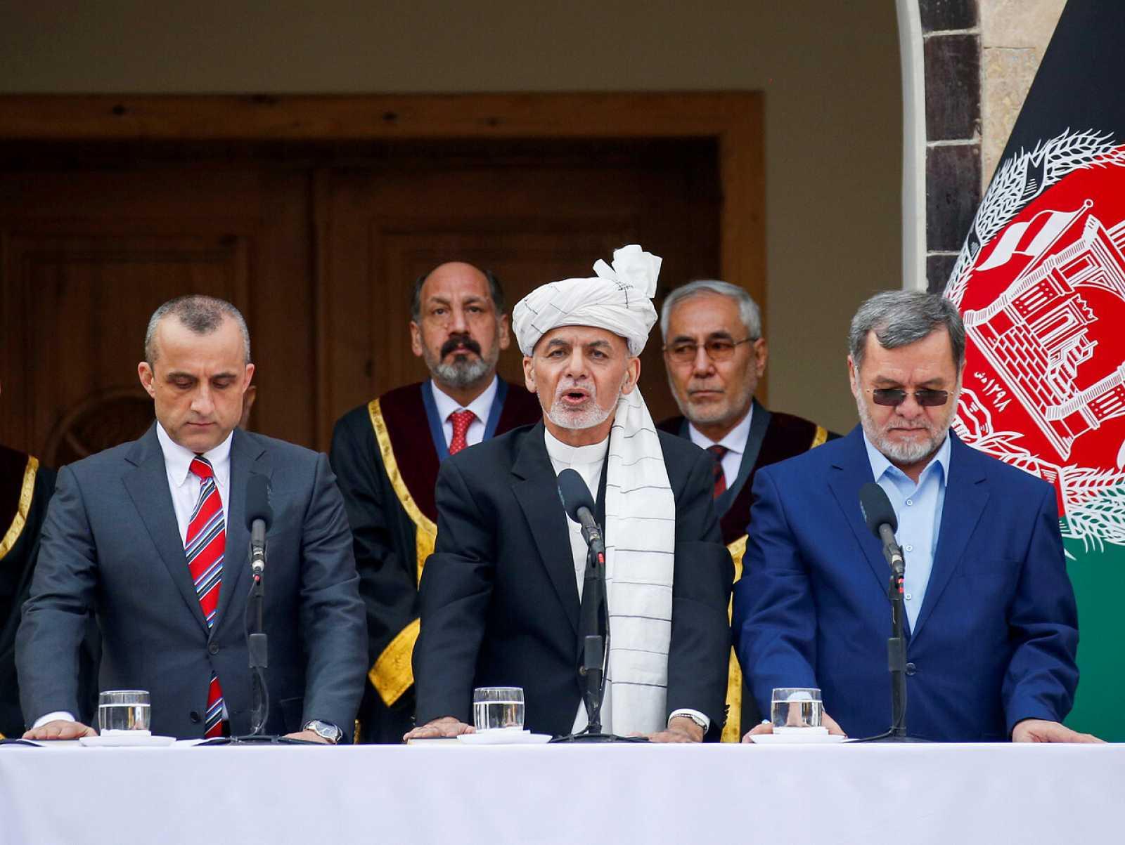 El Presidente de Afganistán Ashraf Ghani presta juramento durante su toma de posesión