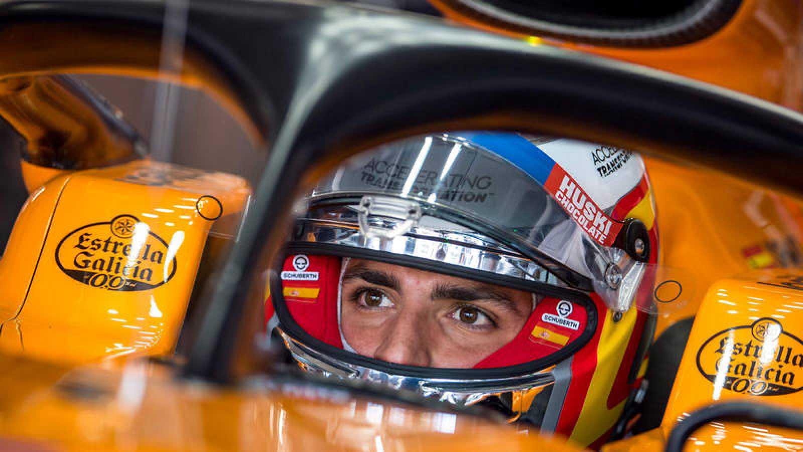 El piloto español de McLaren Carlos Sainz en los entrenamientos del Gran Premio de Australia de F1.