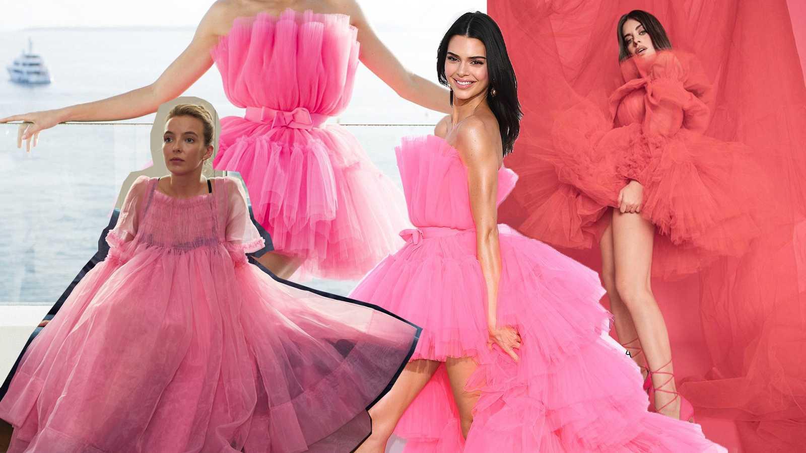 Vestidos de tul rosa en todas las formas pero sólo un color: el rosa