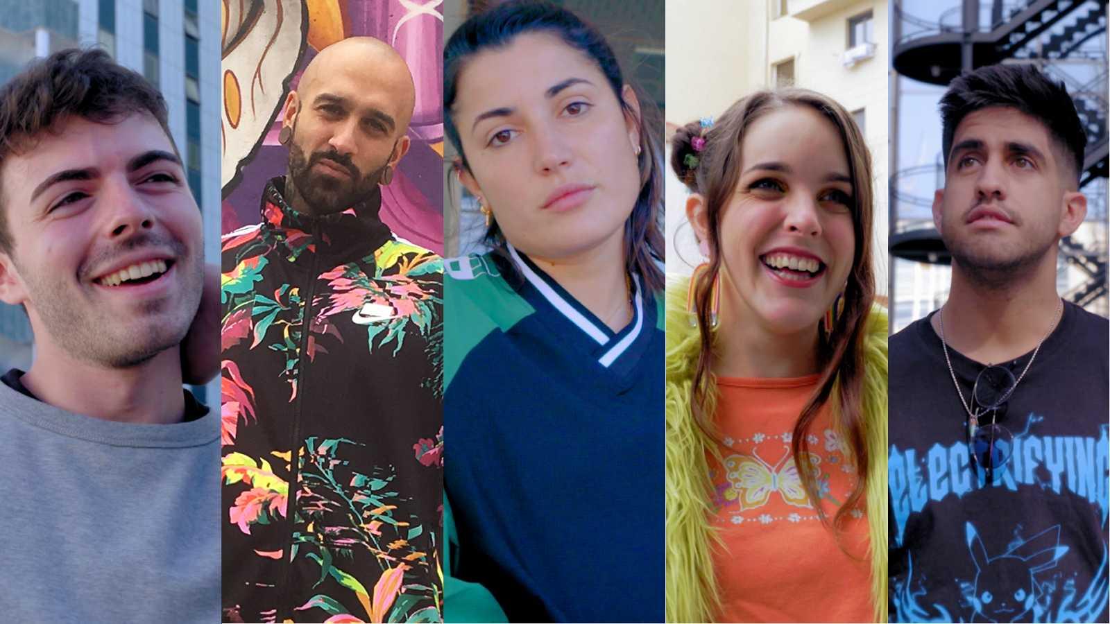 Marc Vilas, Sr. Zeta, Alba Paul, Amarna Miller y Dante Caro, concursantes de 'Cam On 2'