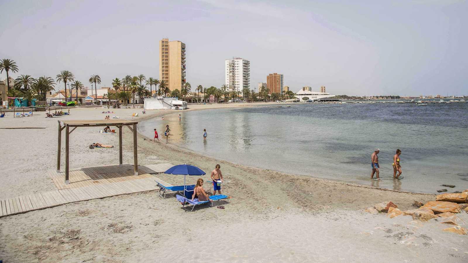 Playa de Barnuevo en San Javier en una imagen de archivo