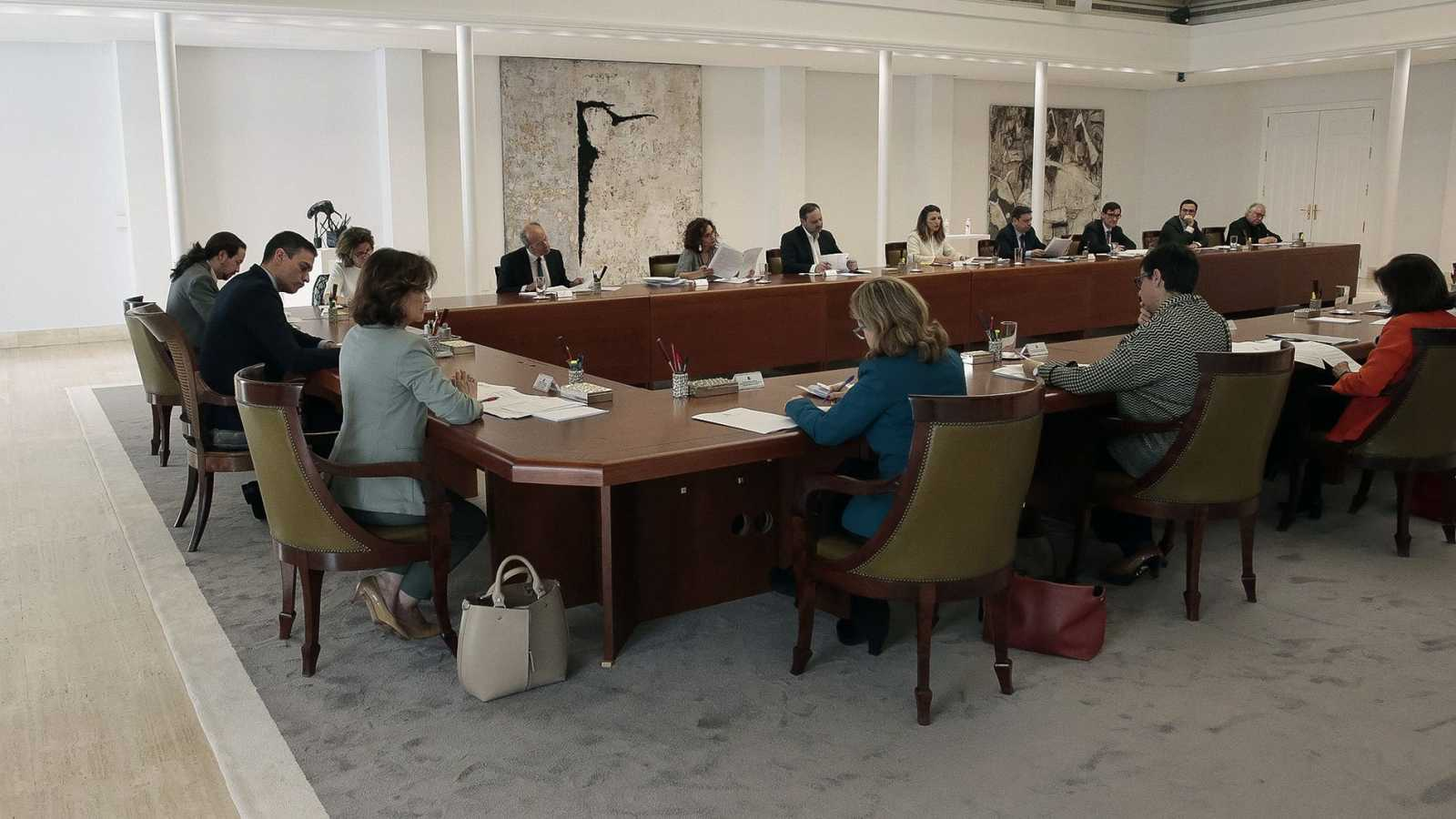 El Consejo de Ministros durante su reunión del pasado sábado