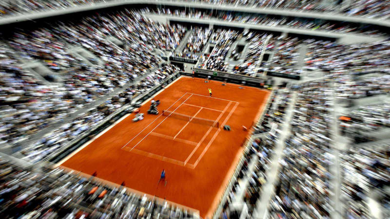 Vista general de la pista Philippe Chatrier de París, escenario de Rolad Garros.