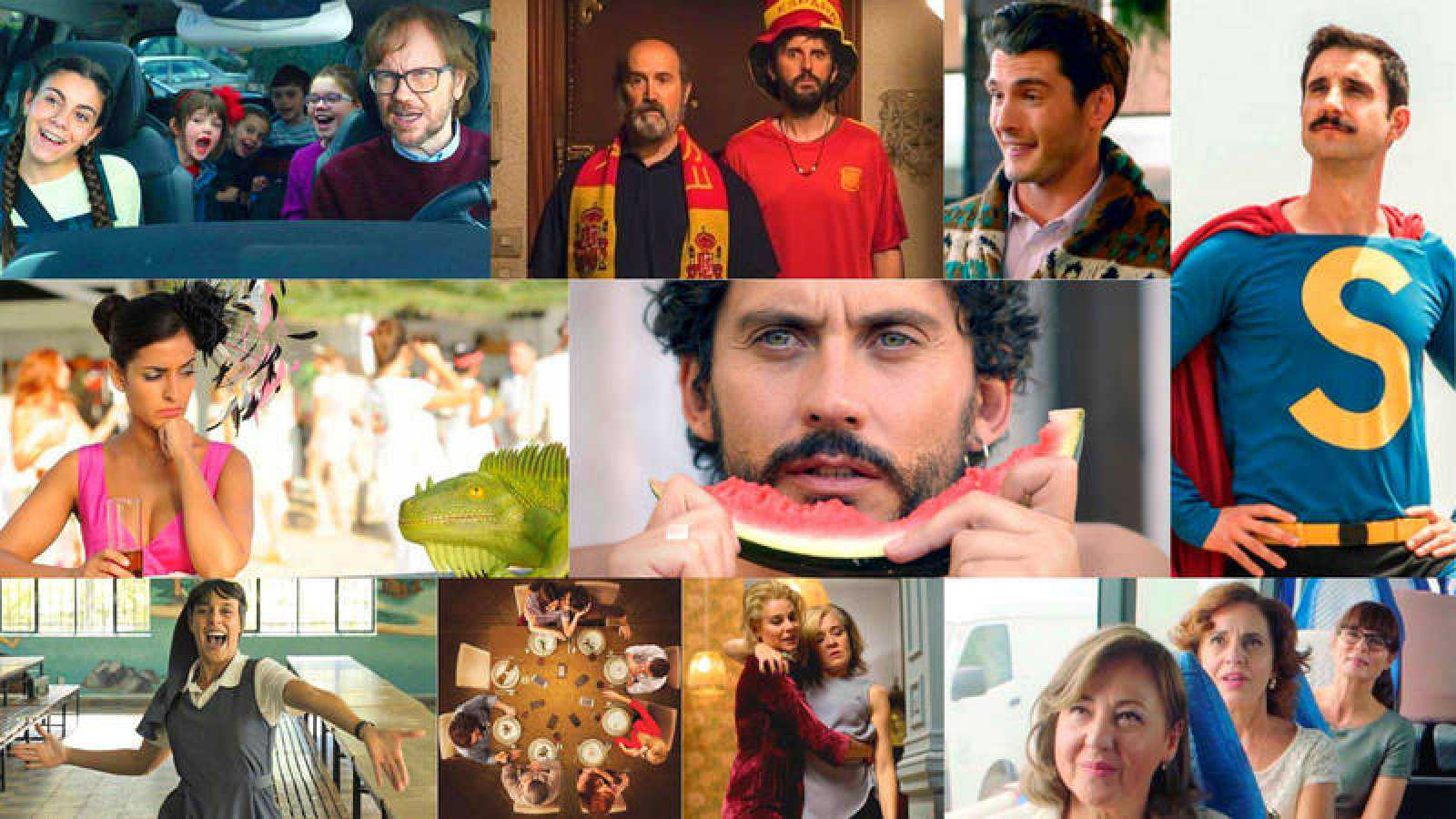 Santiago Segura, Javier Cámara, Carmen Machi y Belén Cuesta son algunos de los protagonistas de este catálogo de películas.
