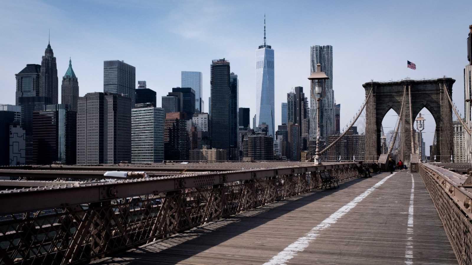 El puente de Brooklyn en Nueva York