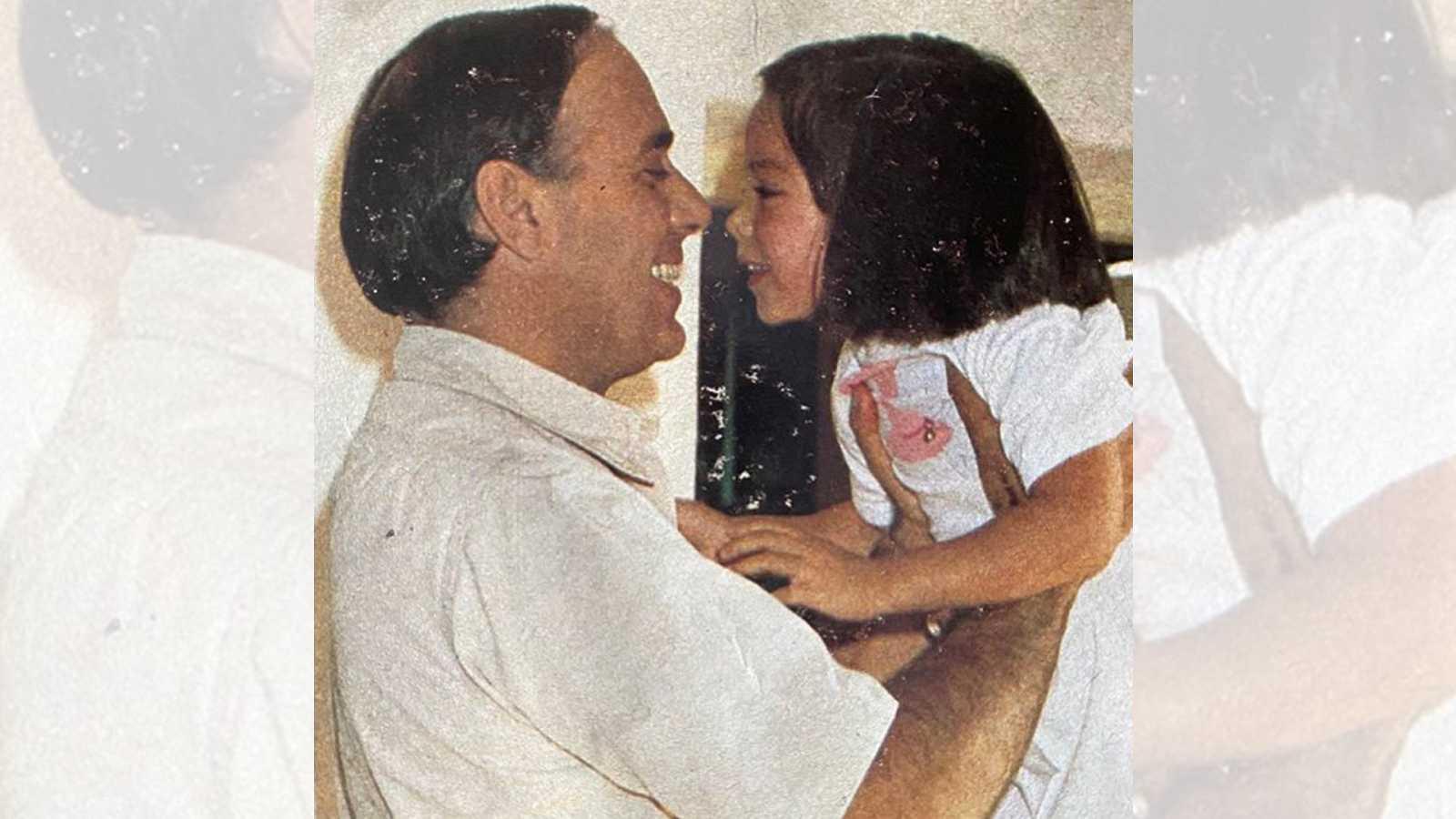 Carlos Falcó y su hija Tamara cuando era pequeña