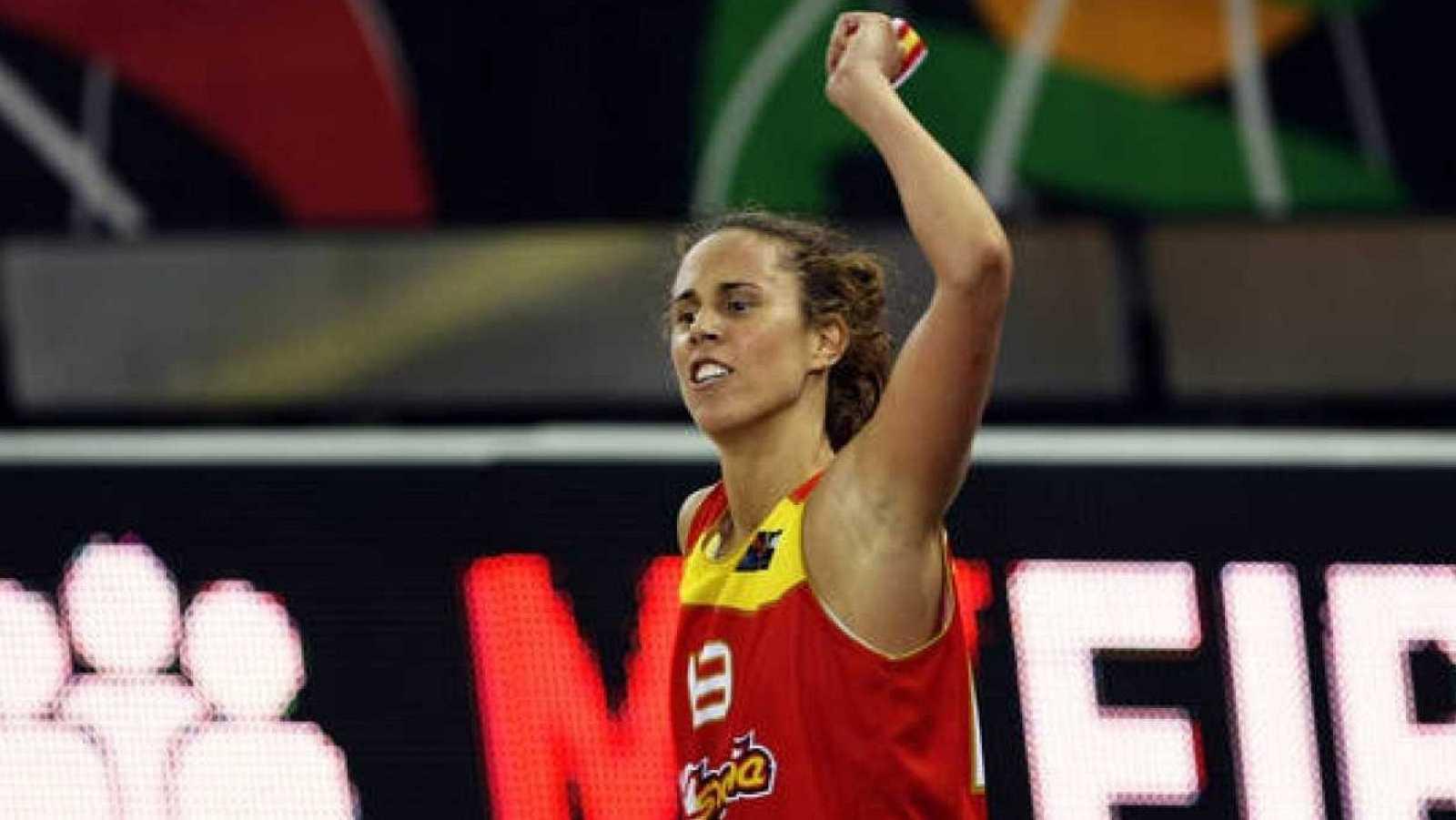 Amaya Valdemoro, en una imagen con la selección española.