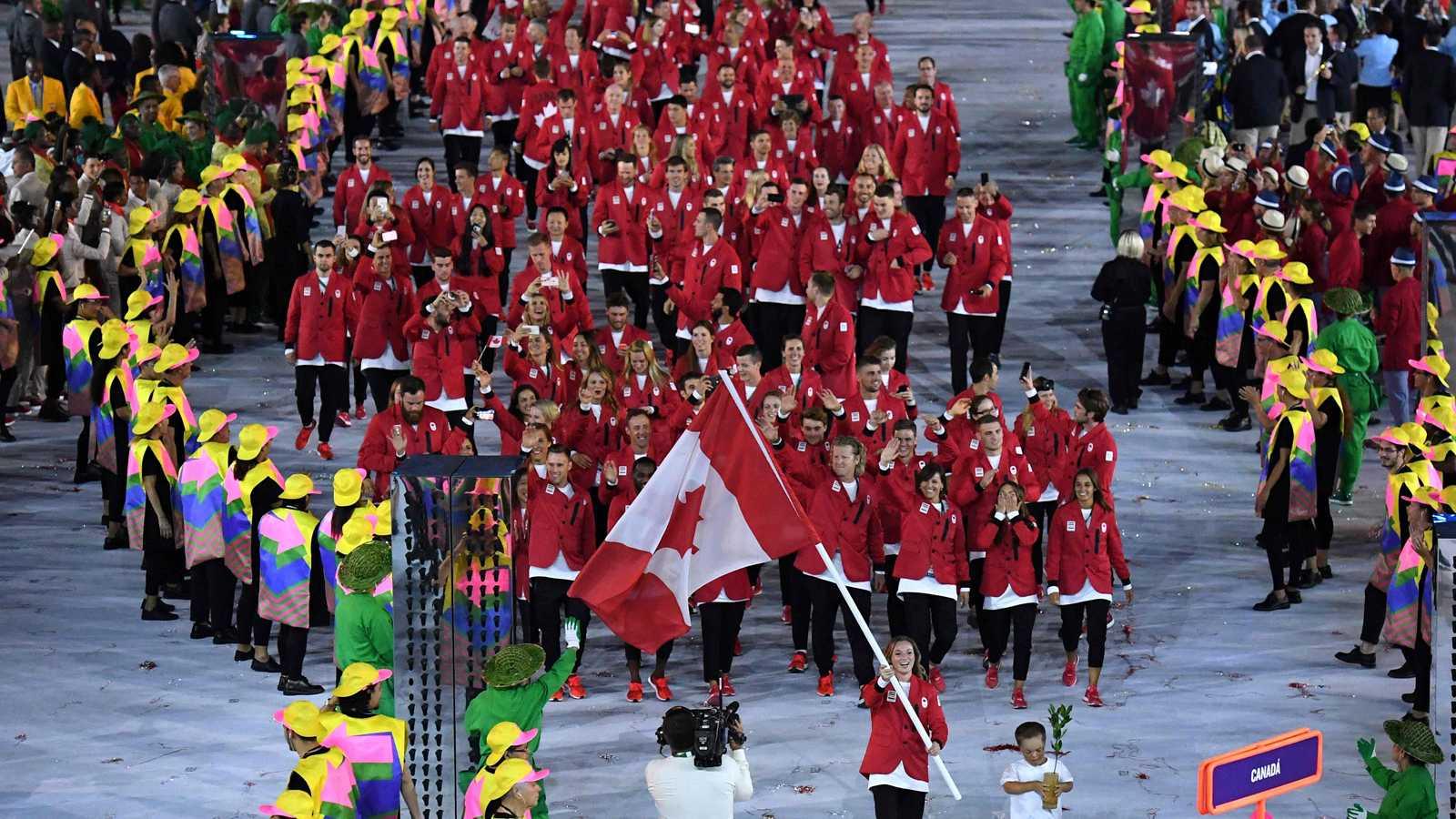 La delegación canadiense, en la ceremonia de apertura de los Juegos de Río 2016.