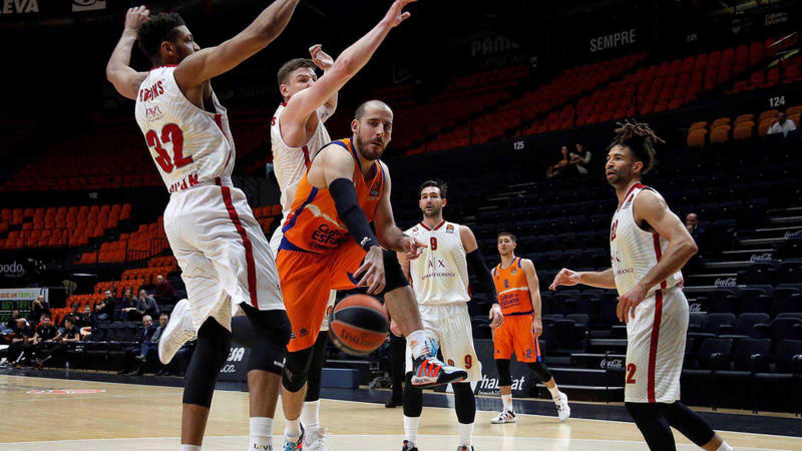 El Valencia Basket - Olimpia Milán, a puerta cerrada