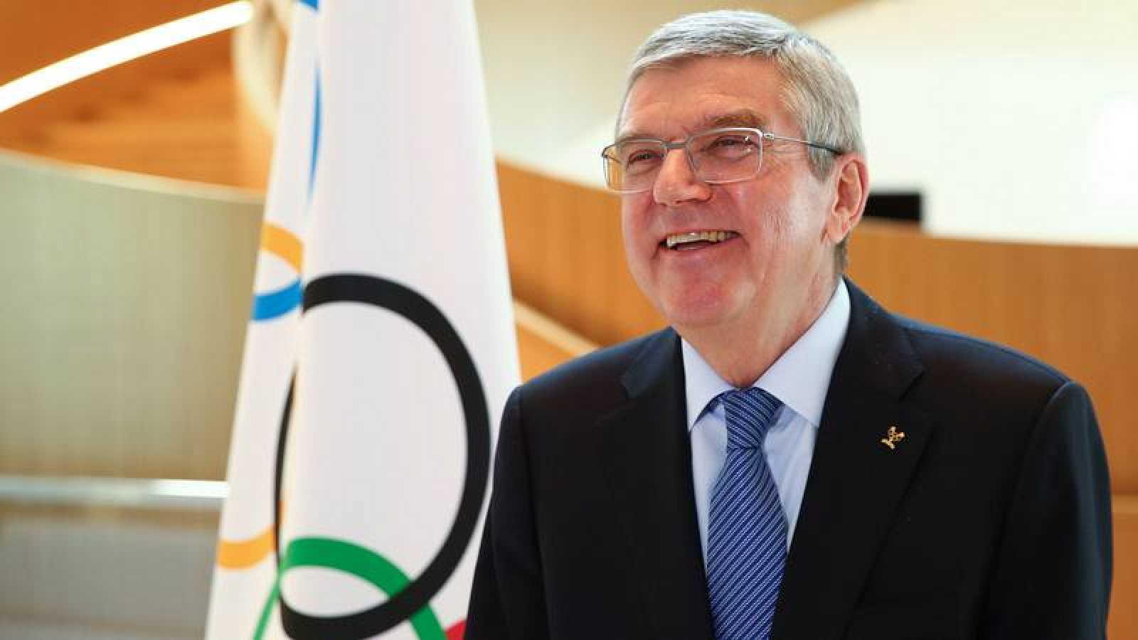 El presidente del COI, Thomas Bach, en rueda de prensa