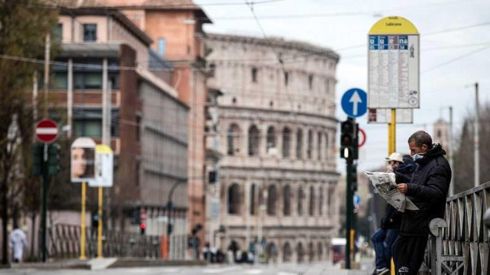 Imagen de Roma durante el confinamiento por el coronavirus