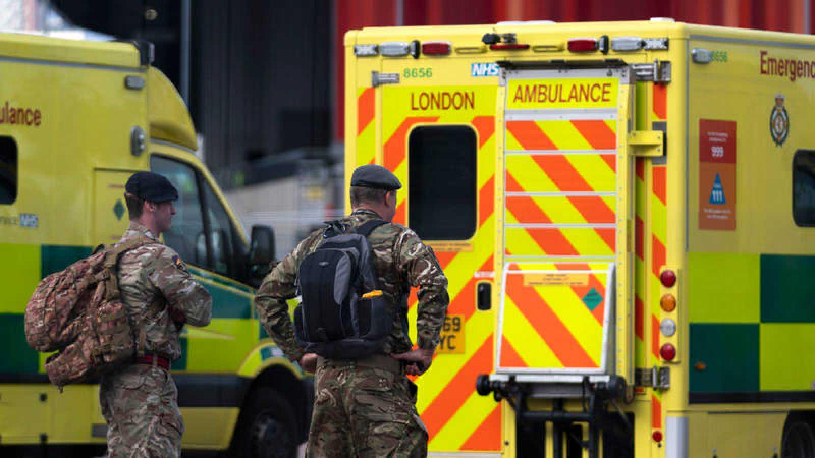 Imagen de un ambulancia de Londres