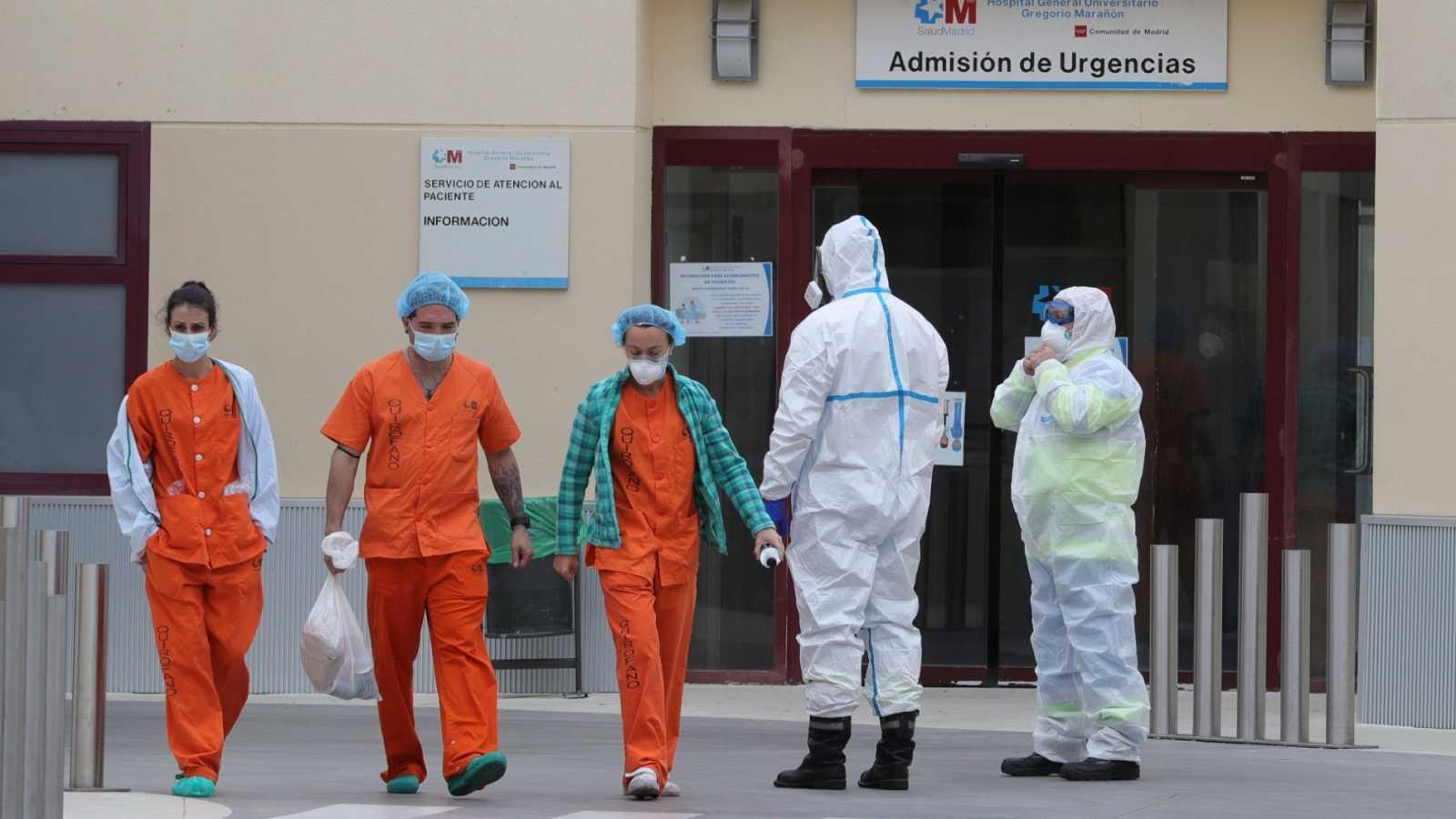 Vista de las inmediaciones del Hospital de campaña del Gregorio Marañón en Madrid