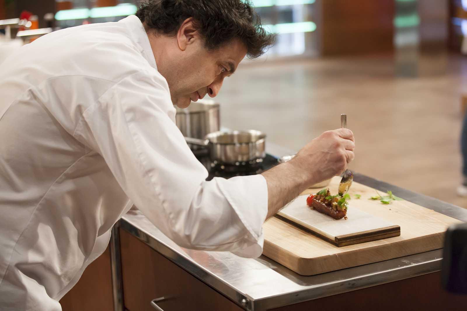 Pepe Rodríguez en la grabación de la séptima temporada de Master Chef