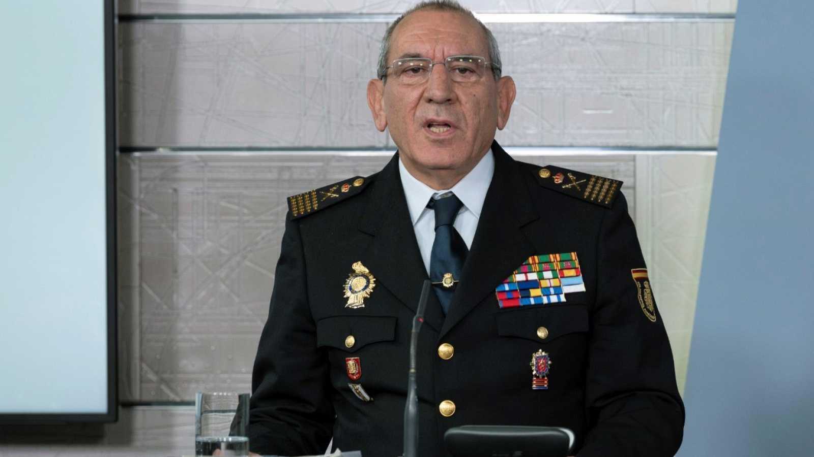 El comisario José Ángel González durante una rueda de prensa