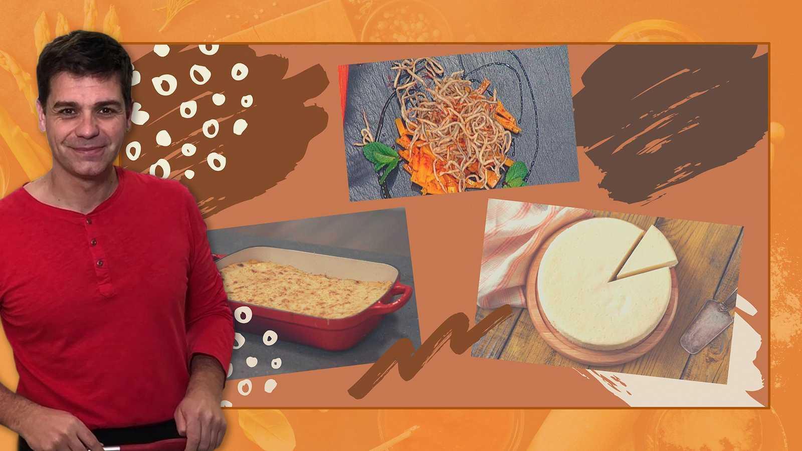 Menú de fin de semana: aperitivo, lasaña y tarta de queso