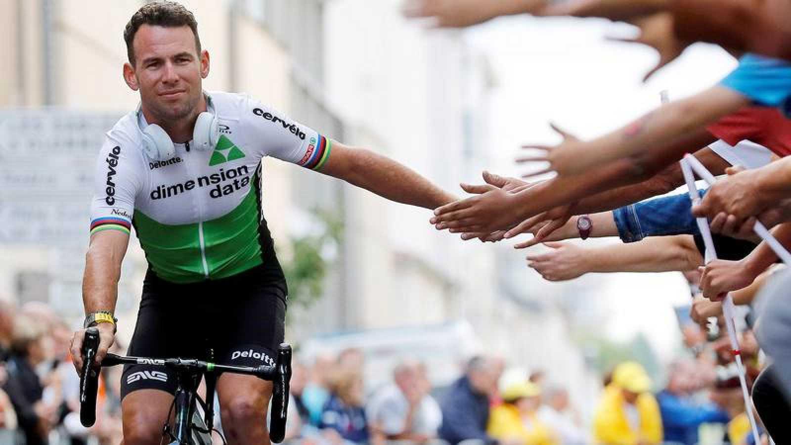 Mark Cavendish, en la salida del Tour de 2018