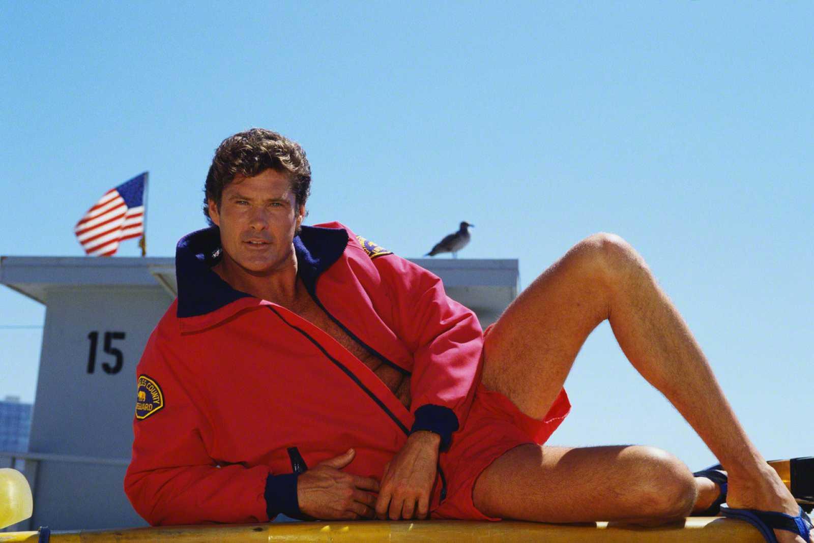 El actor David Husselhoff en 'Los vigilantes de la playa' como Mich Buchannon
