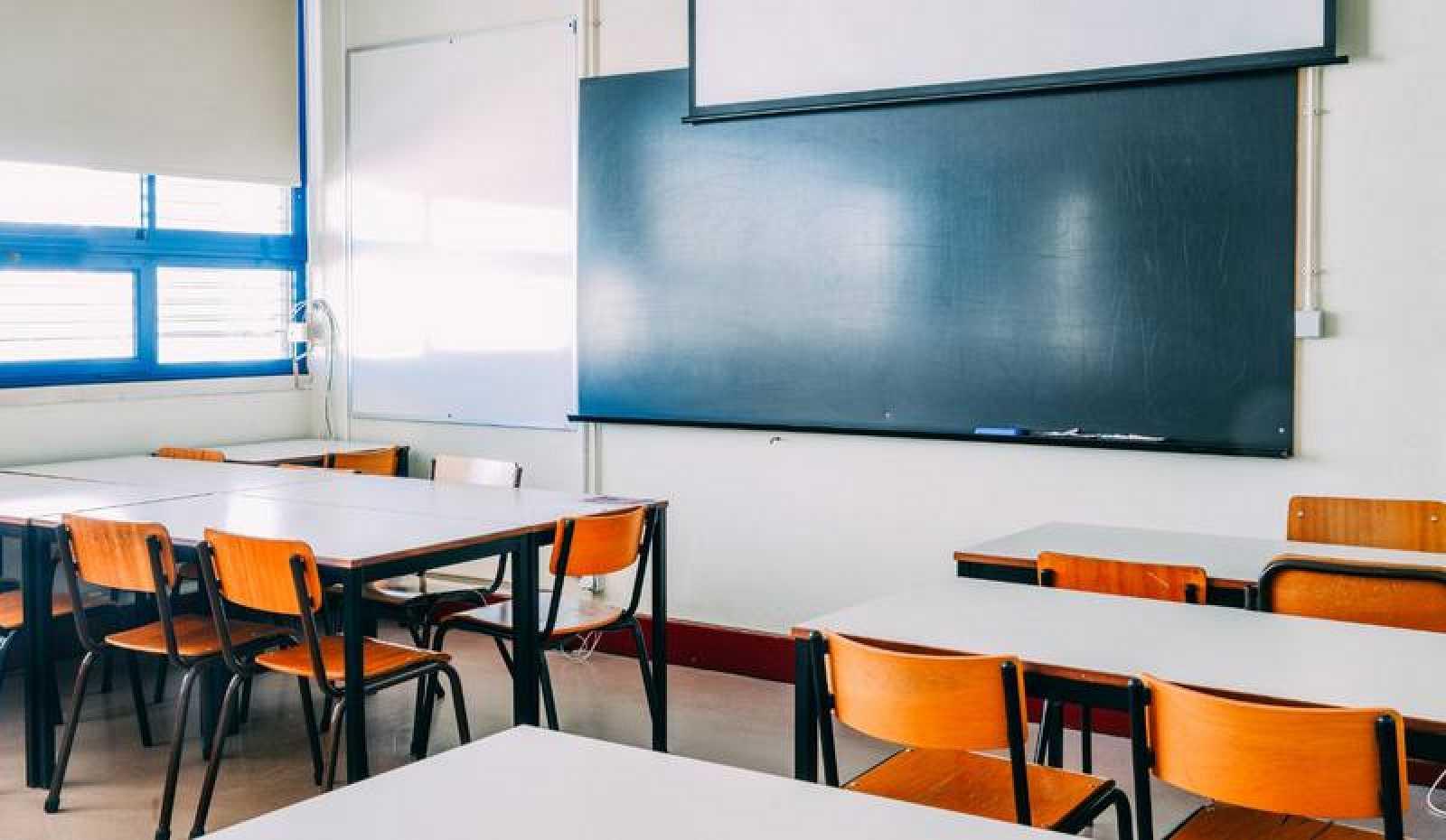 Interior de una aula de primaria.