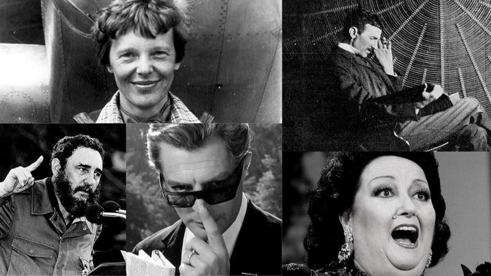 Descubre las vidas de Amelia Earhart, Tesla, Fidel Castro, Fellini y Montserrat Caballé, entre otros personajes.