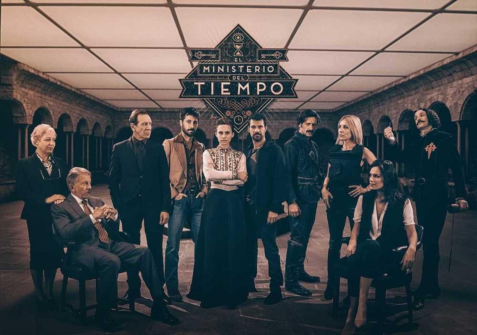Cartel de la segunda temporada de El Ministerio del Tiempo
