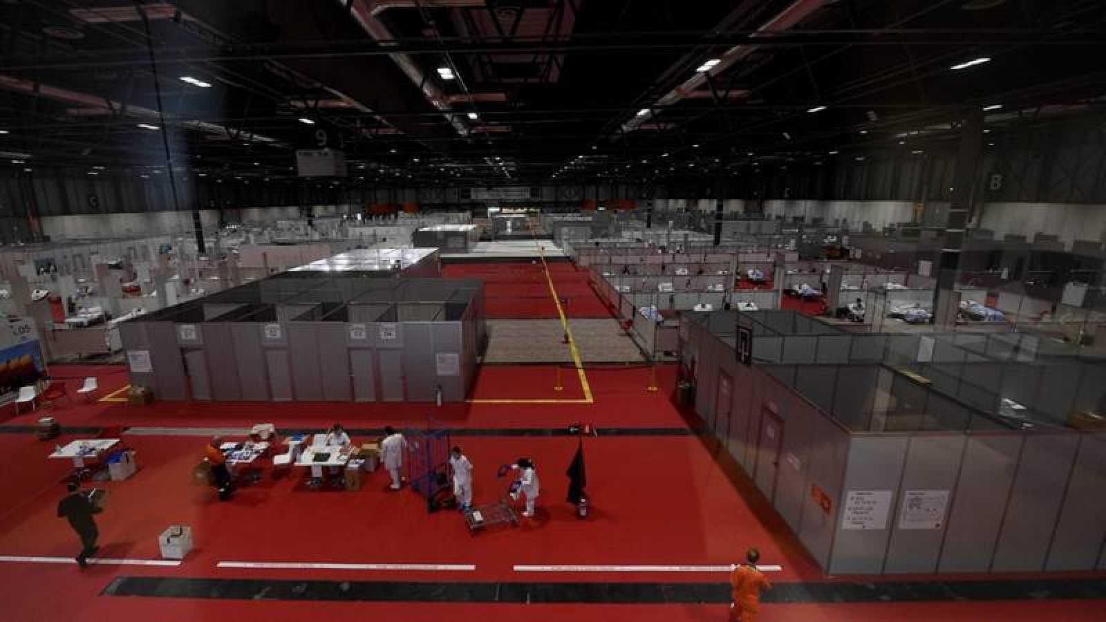 Imagen del hospital de campaña de Ifema en Madrid.