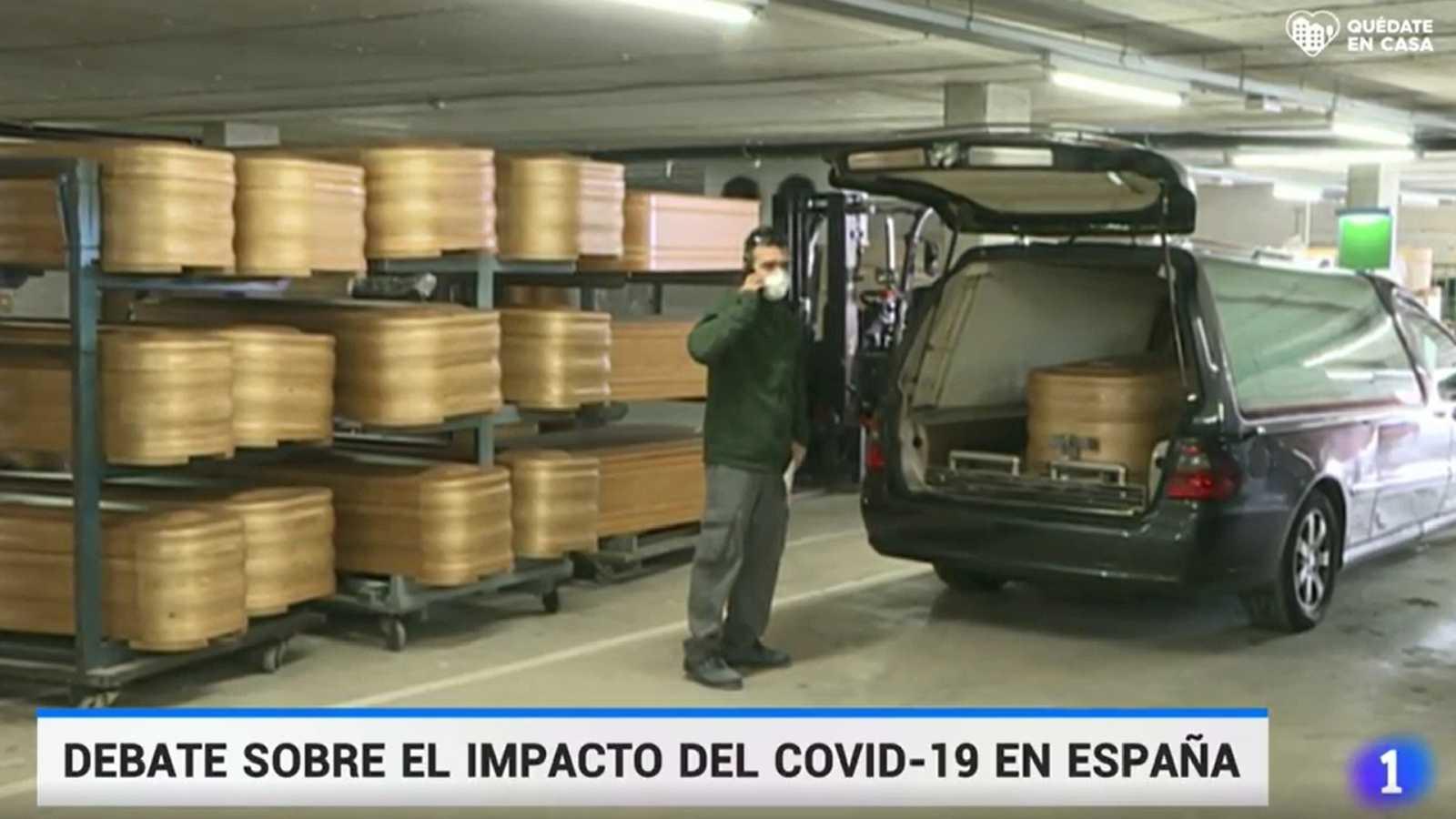 Imagen del Telediario del pasado 8 de abril.