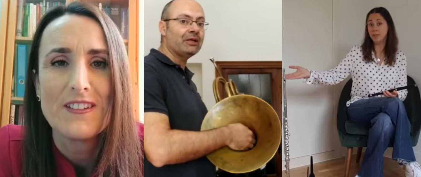Profesores de la Orquesta Sinfónica y Coro RTVE desde sus casas