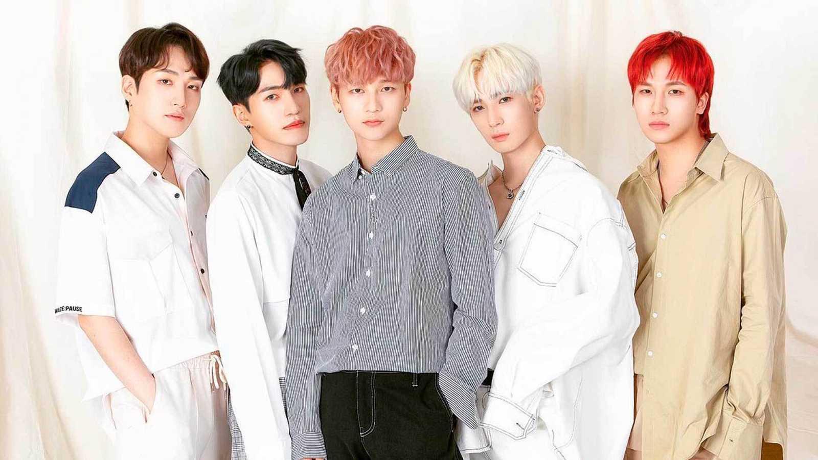 MUSTB, formado por Sihoo, Taegeon, Soohyun, Sangwoo, Doha, Hawoo Wooyeon.