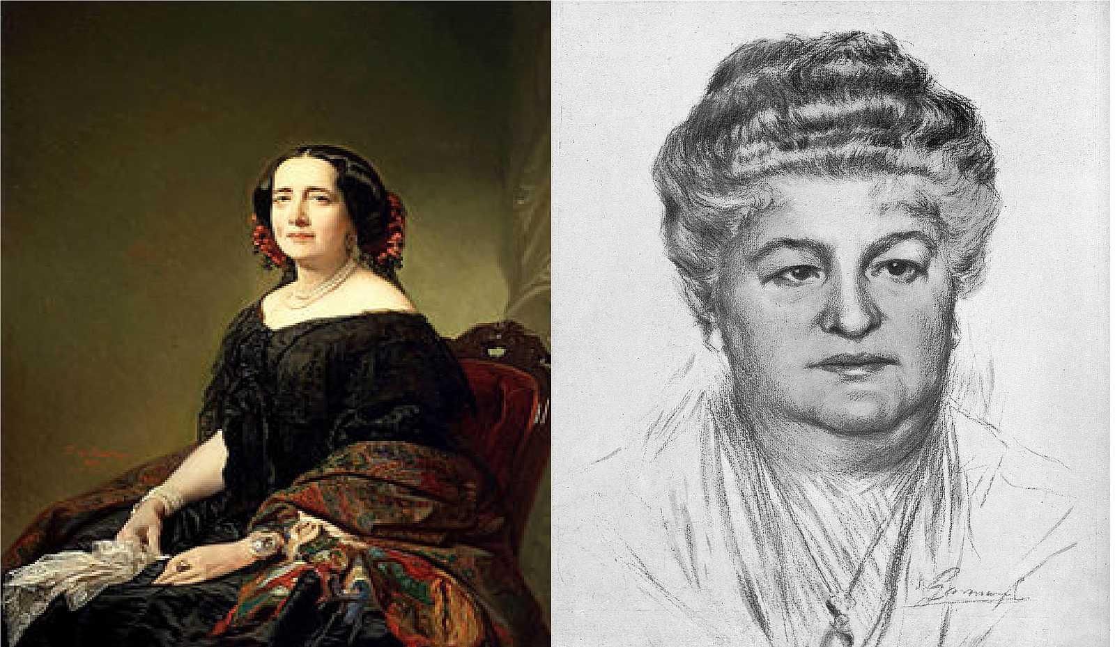 Gertrudis Gómez de Avellaneda y Emilia Pardo Bazán