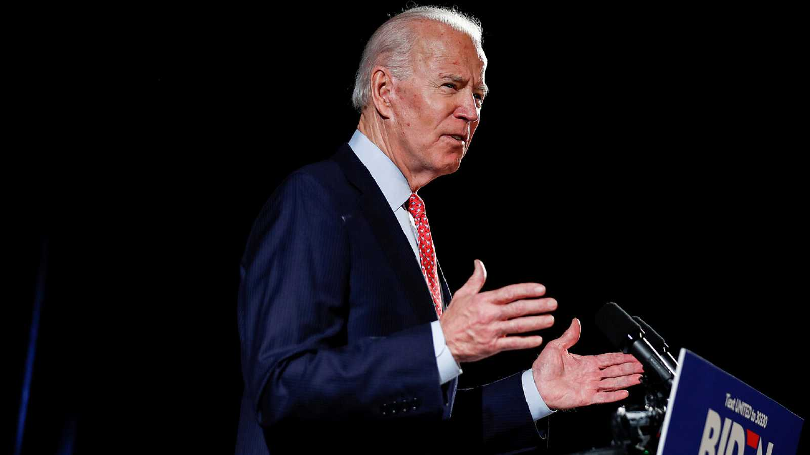 Joe Biden durante un evento en Delaware