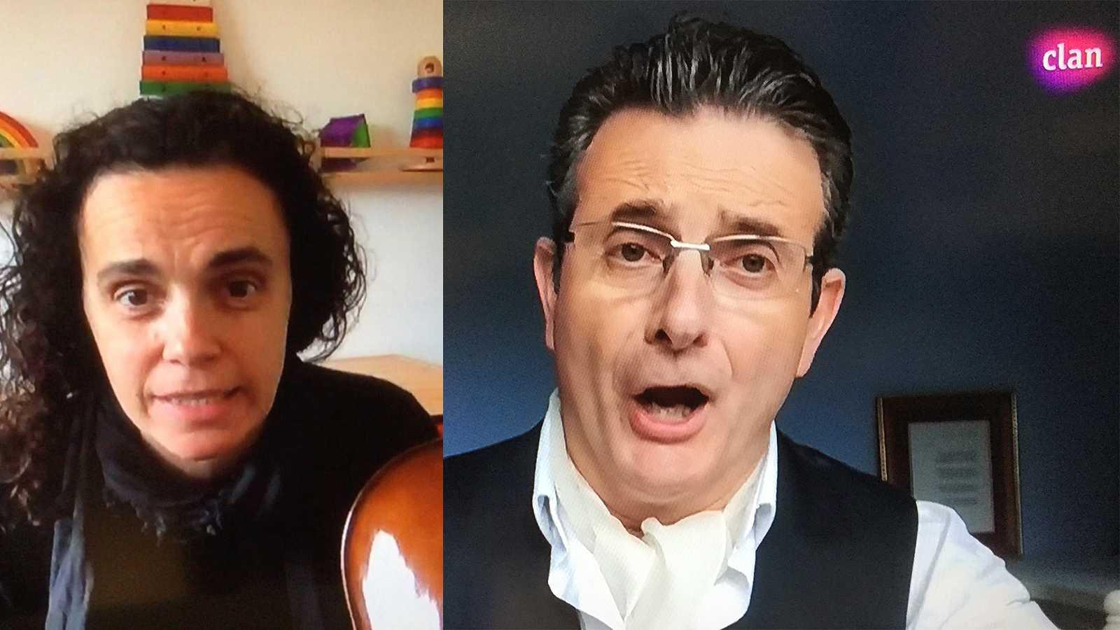 Irina Comesaña y Carmelo Cordón, profesores de la Orquesta y Coro RTVE